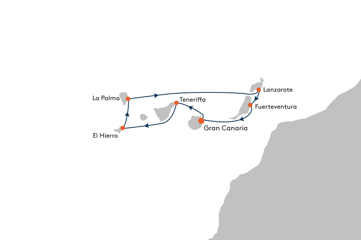 Hapag Lloyd KreuzfahrtenNaturschönheiten der Kanaren MS Europa 2