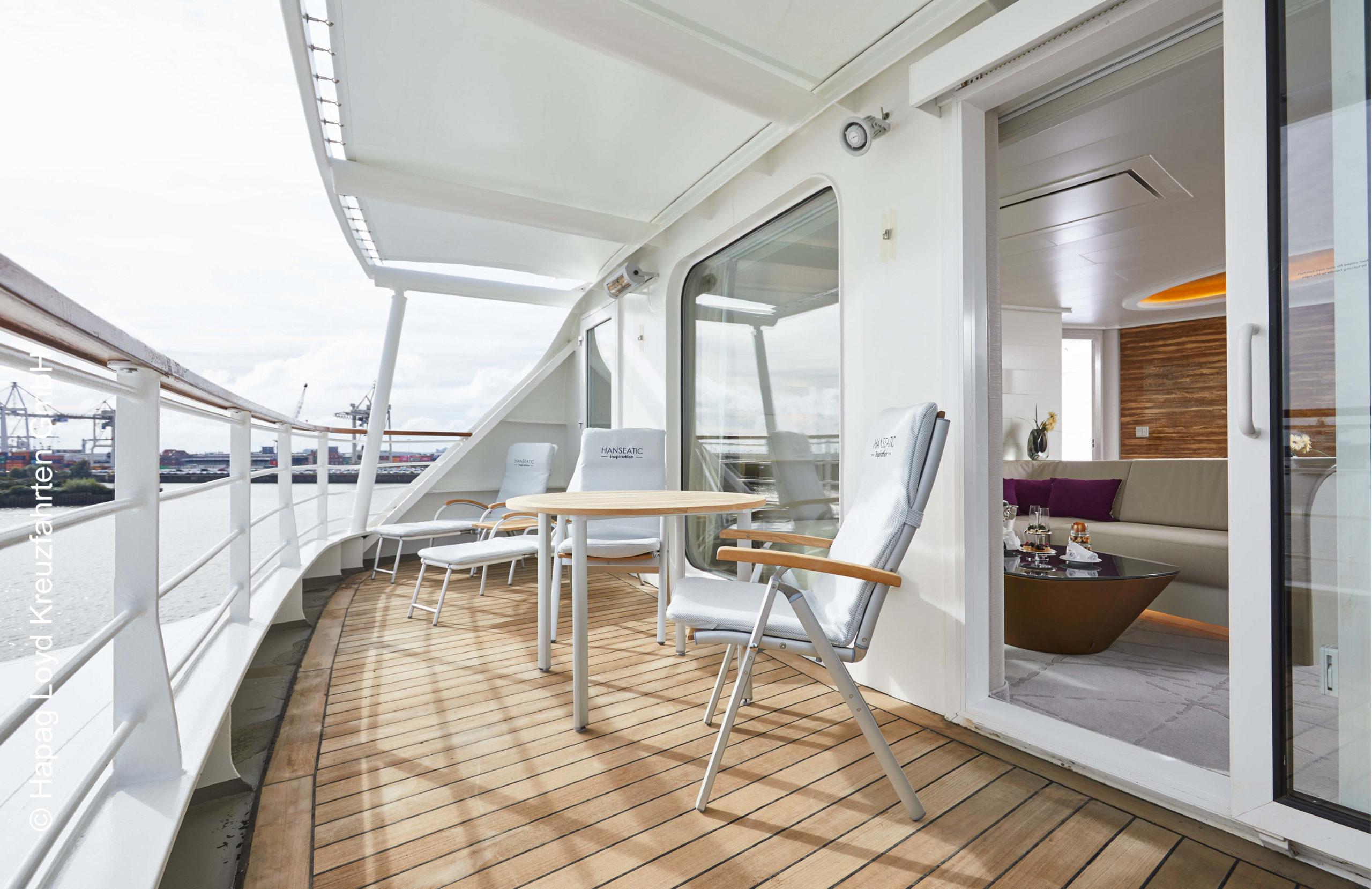 Hapag Lloyd Hanseatic inspiration Grand Suite Balkon