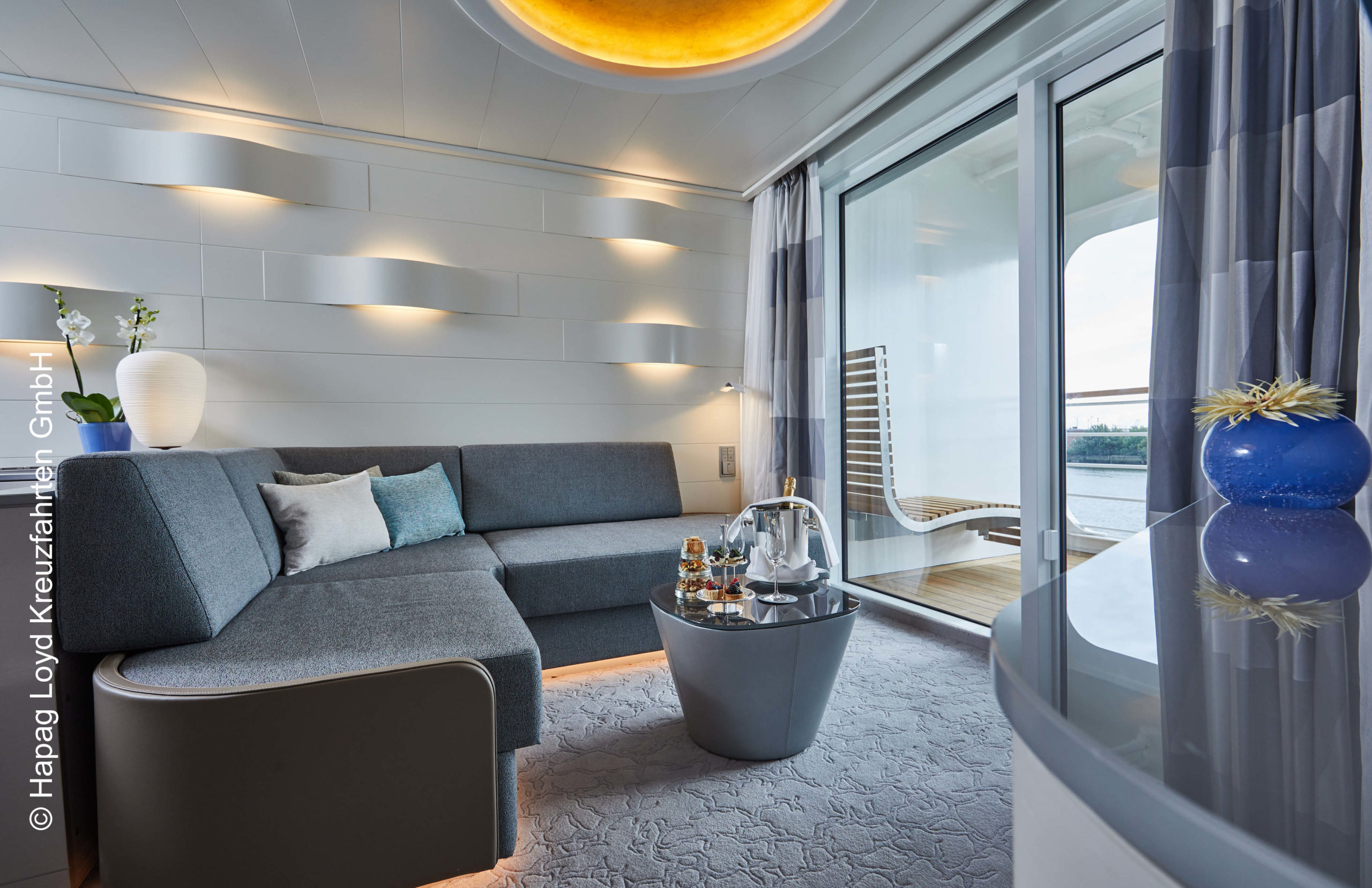 Hapag Lloys Hanseatic inspiration Junior Suite Wohnen
