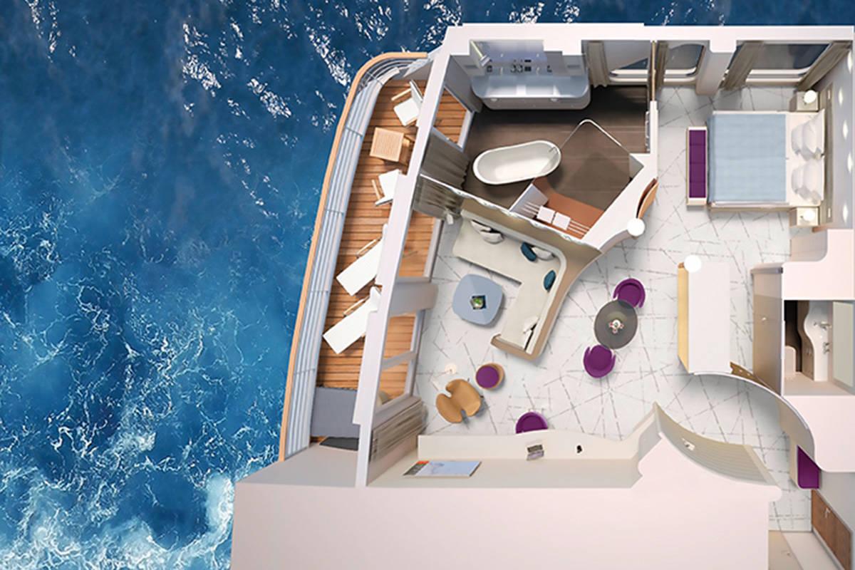 Hapag Lloyd Hanseatic Inspiration Grand Suite Grundriss