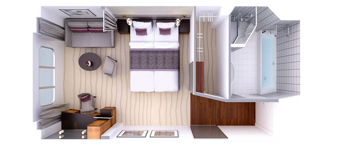 Hapag Lloyd Grundriss Suite mit Panoramafenster MS Europa
