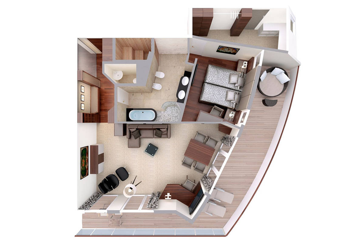 Hapag Lloyd Penthouse Grand Suite Grundriss
