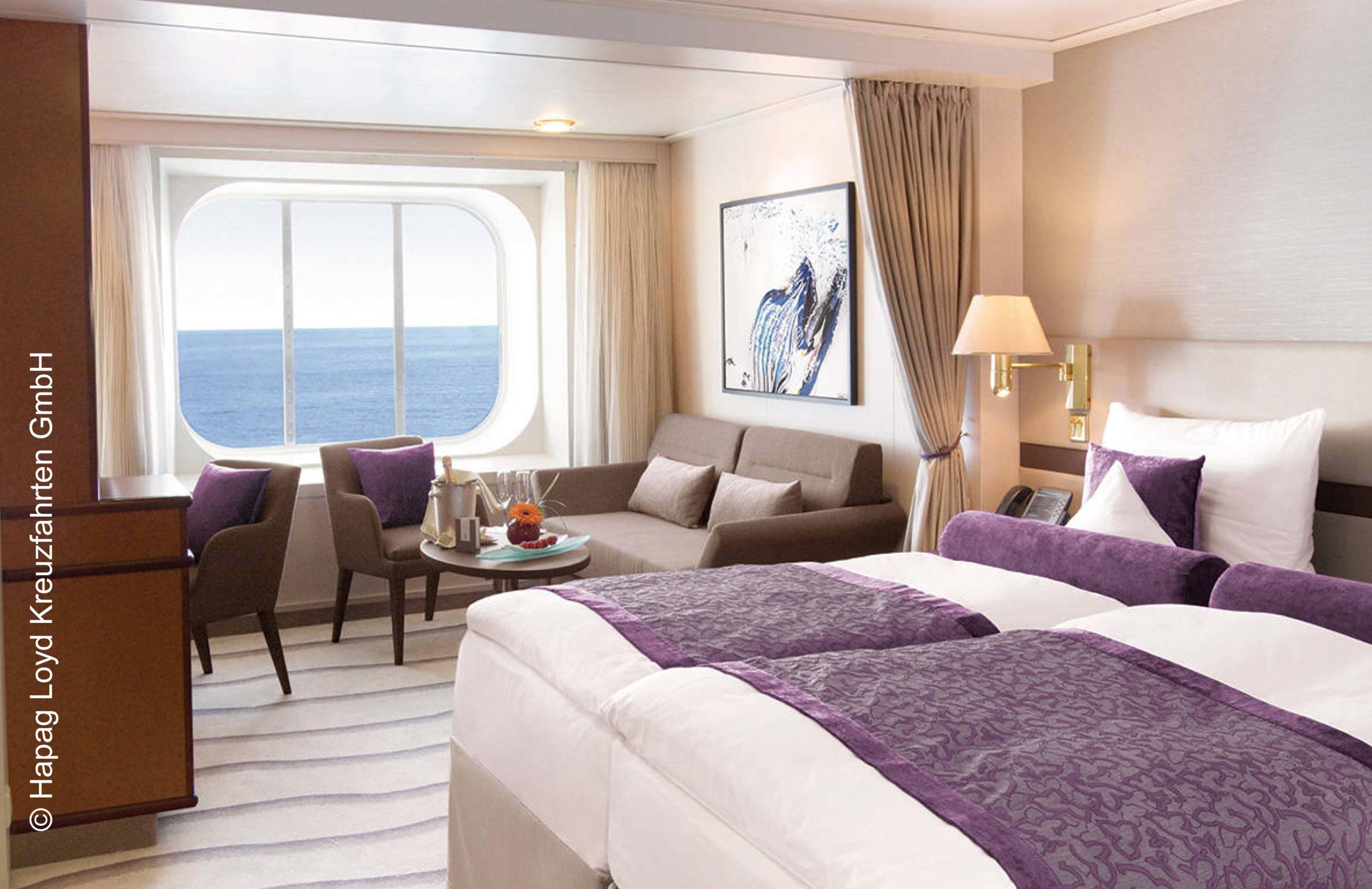 Hapag Lloyd Suite mit Panoramafenster MS Europa