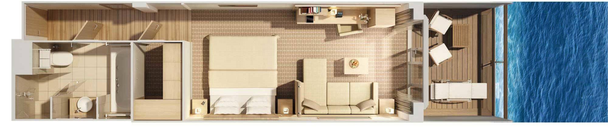 Hapag Lloyd Veranda Suite MS Europa 2