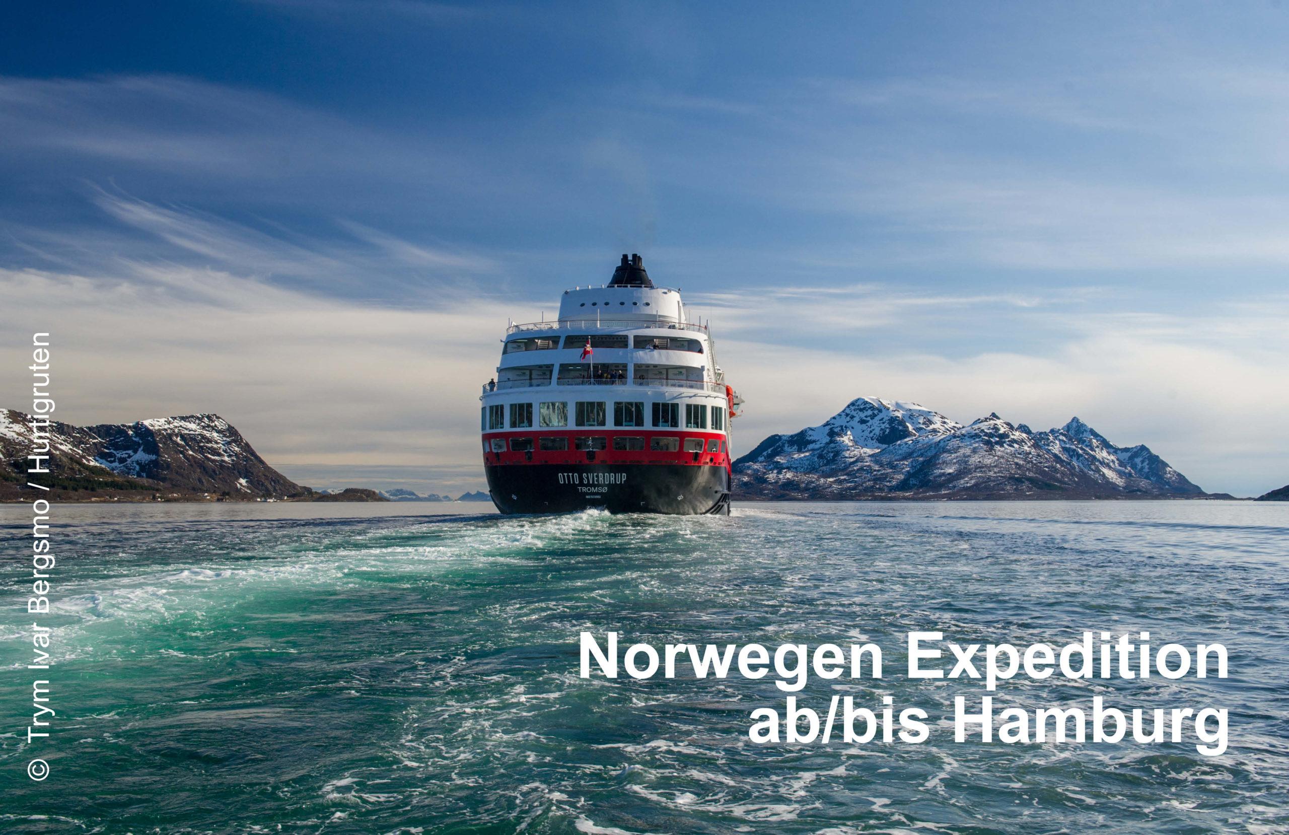 Hurtigruten Expedtion ab/bis Hamburg mit MS Otto Sverdrup