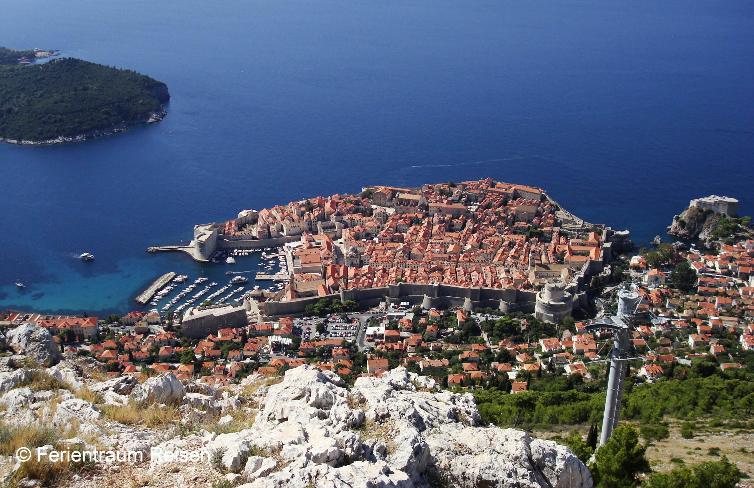 Ferientraum Reisen Adria Blick auf Dubrovnik