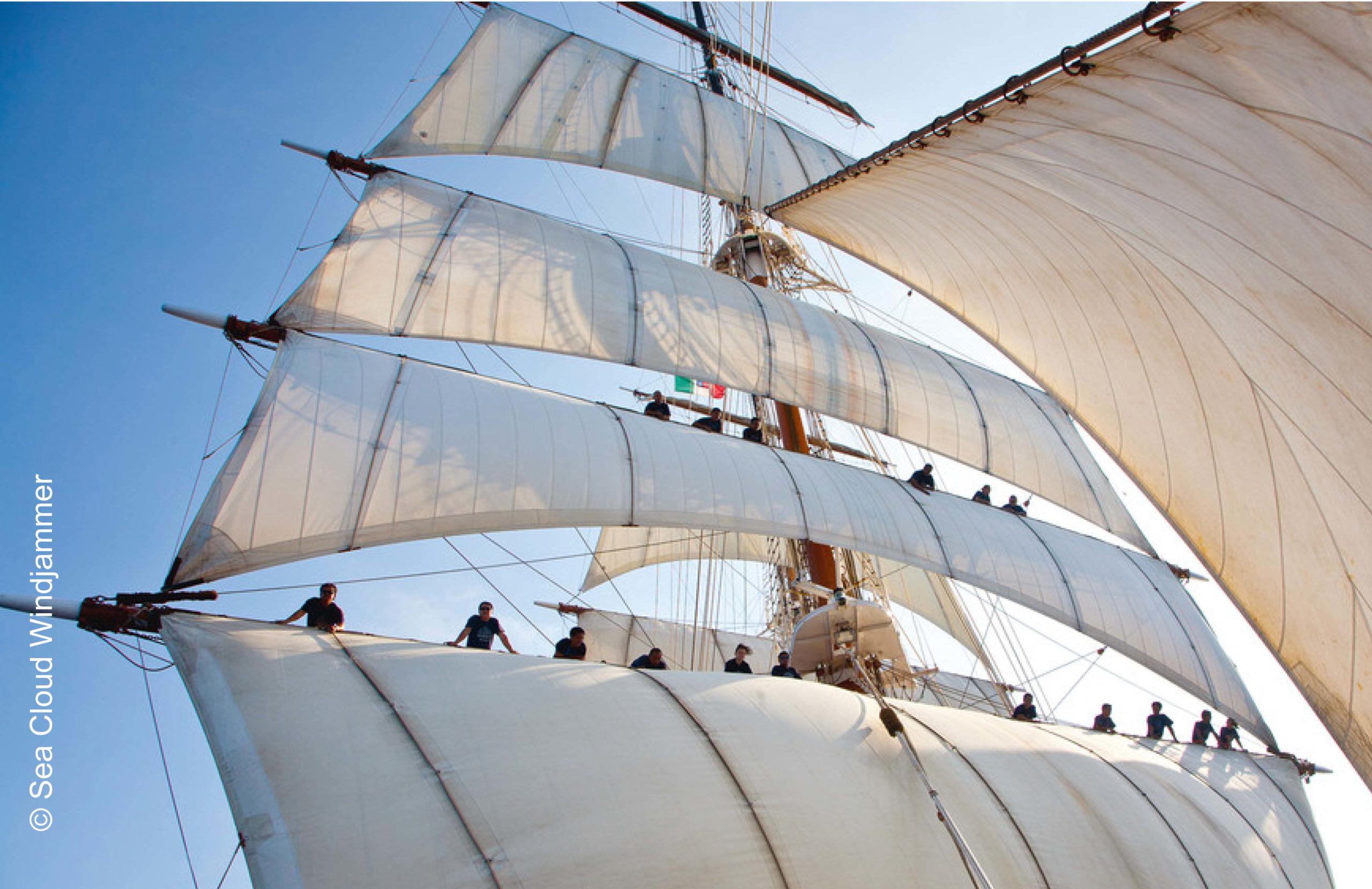 Sea Cloud Windjammer Traum unter weißen Segeln