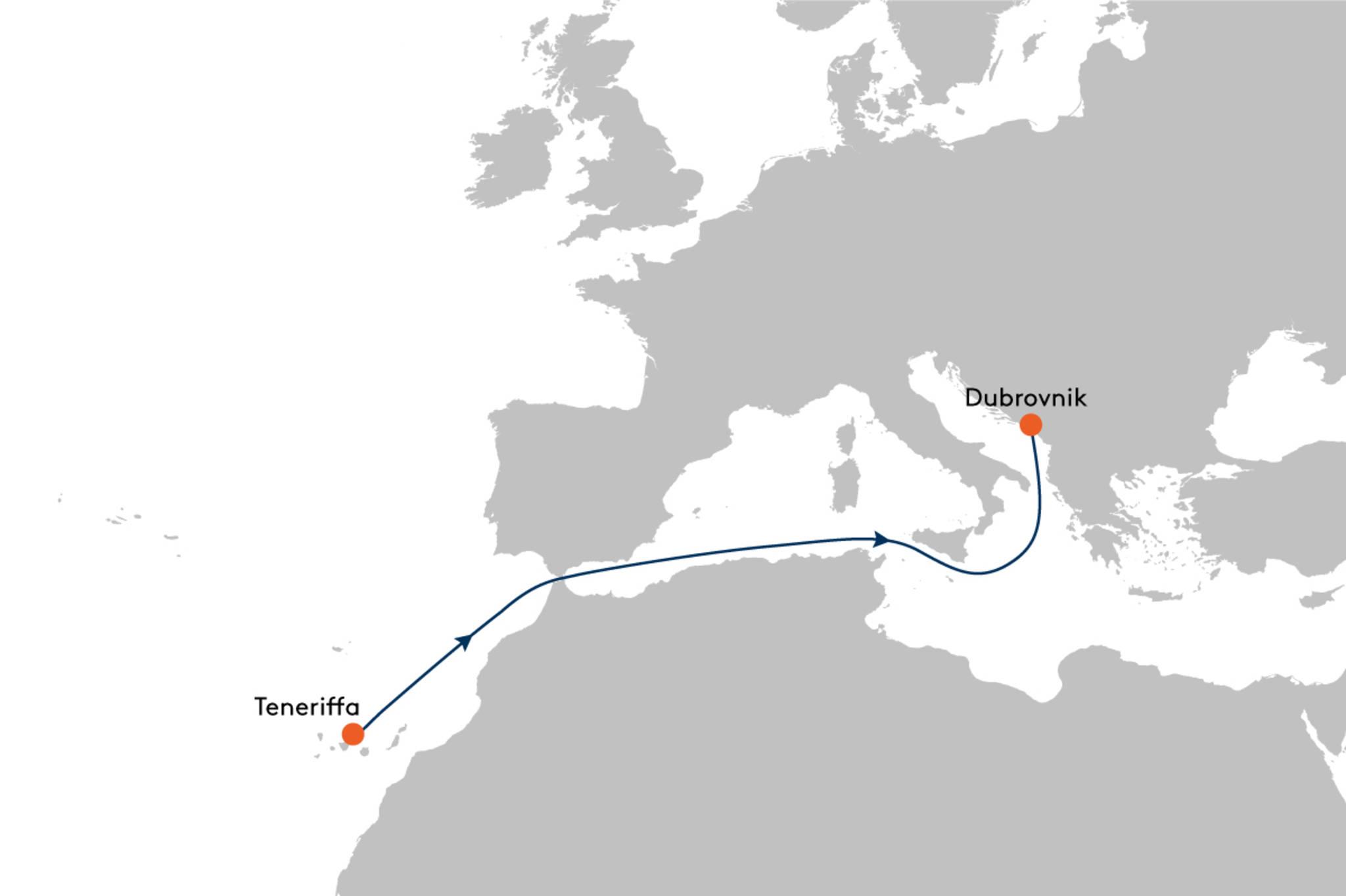 Hapag Lloyd Europa 2 Vo Teneriffa nach Dubrovnik EUX2146